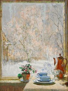 Through the Window in Winter, 1945 by Konstantin Ivanovich Gorbatov