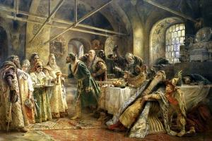 The Kiss Ceremony, 1895 by Konstantin Makovsky