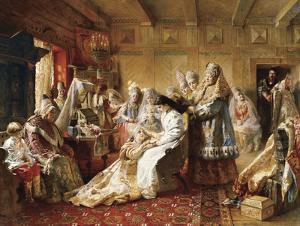 The Russian Bride's Attire, 1889 by Konstantin Makovsky