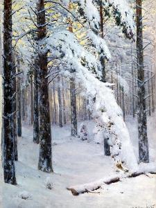 Winter Forest by Konstantin Yakovlevich Kryzhitsky