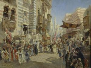 The Handing over of the Sacred Carpet in Cairo, 1876 by Konstantin Yegorovich Makovsky