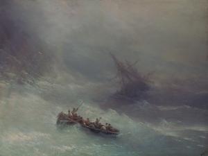 The Rainbow (Wreckage), 1873 by Konstantinovich Ivan Aiwassowskij