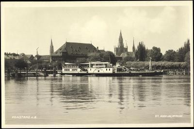 Konstanz A. Bodensee, Fähre Baden, Häuser, Kirche--Giclee Print