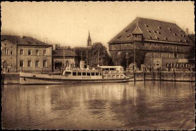 Konstanz Bodensee, Blick Zum Hafen, Dampfer Mainau--Giclee Print