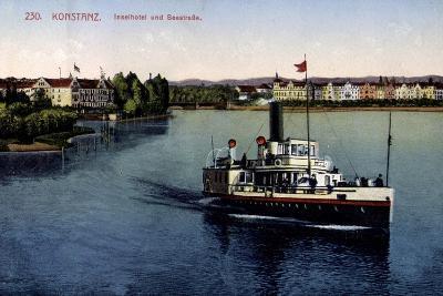 Konstanz Bodensee, Inselhotel Und Seestraße,Dampfer--Giclee Print