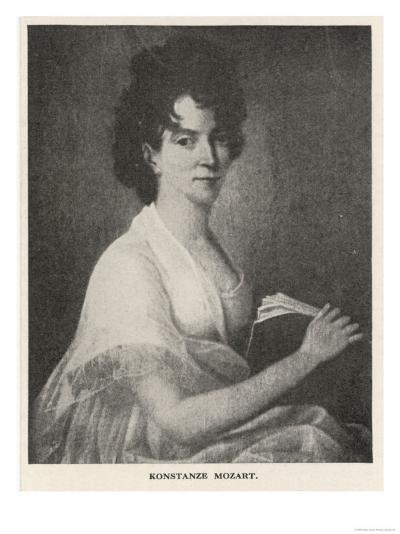 Konstanze Mozart Wife of Wolfgang Amadeus They Married 4 August 1782--Giclee Print