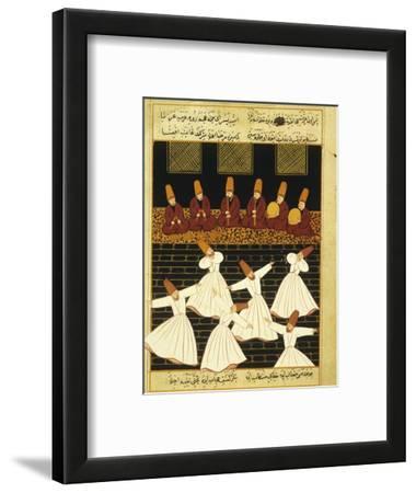 Konya Whirling Dervishes Ritual, 16th Century, Ottoman Miniature of the Anatolian School