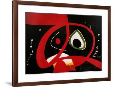 Kopf-Joan Miro-Framed Art Print