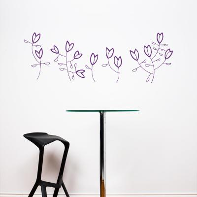 Korall Flowers Wall Decal--Wall Decal