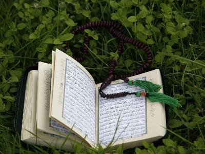 Koran and Prayer Beads, Chatillon-Sur-Chalaronne, Ain, France, Europe-Godong-Photographic Print