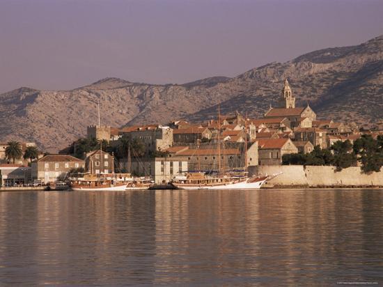 Korcula Old Town, Korcula Island, Dalmatia, Croatia-Peter Higgins-Photographic Print