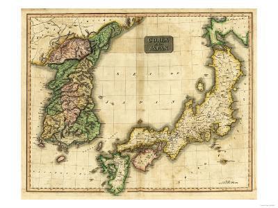 Korea and Japan - Panoramic Map-Lantern Press-Art Print