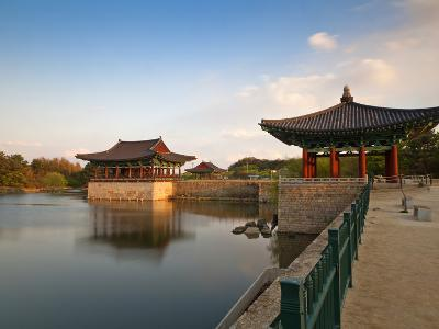 Korea, Gyeongsangbuk-Do, Gyeongju, Anapji Pond-Jane Sweeney-Photographic Print