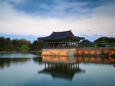 Korea, Gyeongsangbuk-Do, Gyeongju, Anapji Pond-Jane Sweeney-Photographic Print