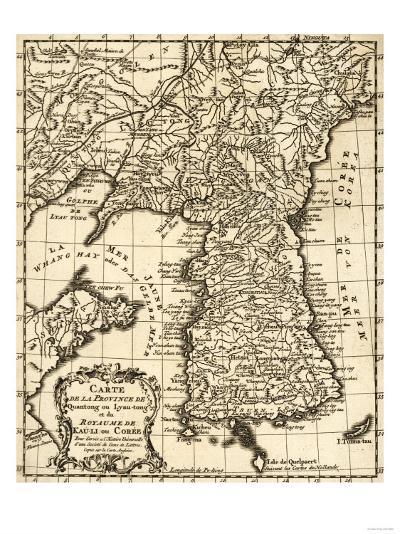 Korea - Panoramic Map-Lantern Press-Art Print