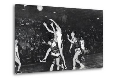 Korean Basketball Player Scoring in the Basketball Qualifying Round, 1956 Melbourne Olympic Games
