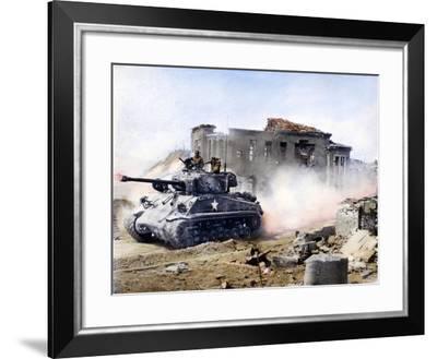 Korean War: Tank, 1951--Framed Photographic Print