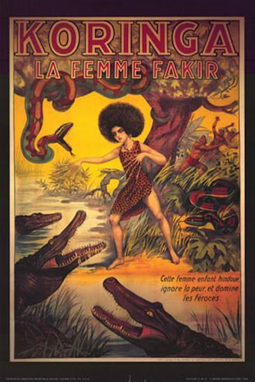 Koringa, La Femme Fakir--Art Print