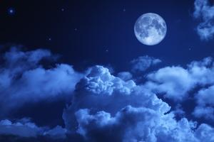 Tragic Night Sky with A Full Moon by korionov