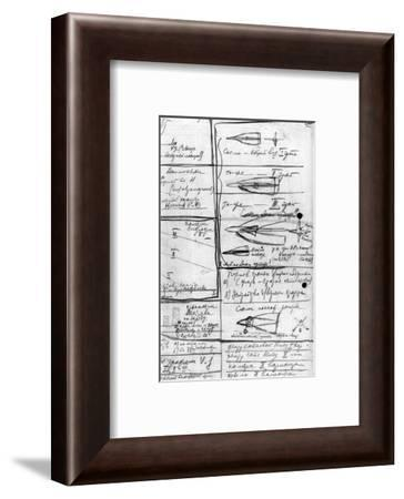 Korolev's Designs for Soviet Rockets-Ria Novosti-Framed Giclee Print