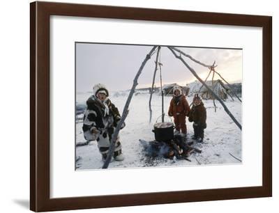 Koryak Children, Russian Far East-Ria Novosti-Framed Photographic Print