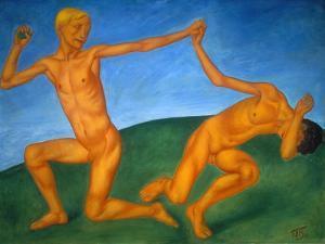 Playing Boys, 1911 by Kosjma Ssergej Petroff-Wodkin