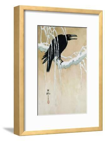 Raven on a Snowy Branch