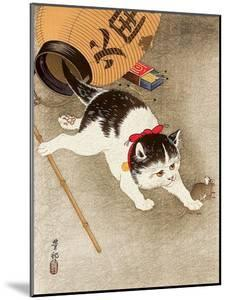 Cat Catching Mouse by Koson Ohara