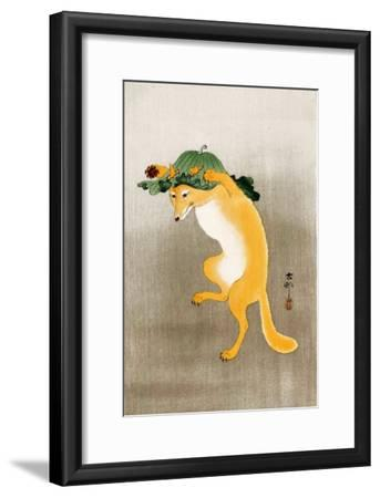 Dancing Fox with Lotus-Leaf Hat