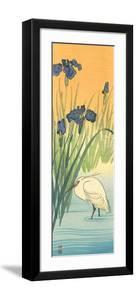 Iris and Egret by Koson Ohara