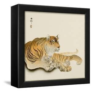 Reclining Tiger by Koson Ohara