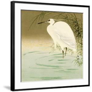Wading Egret by Koson Ohara