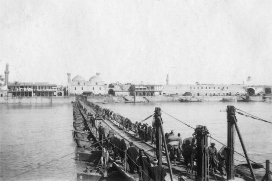 Kotah Boat Bridge, Baghdad, Iraq, 1917-1919--Giclee Print