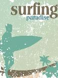 Surfing Poster-kots-Art Print