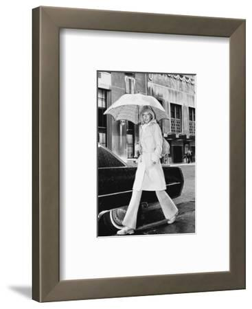 Model, Walking with an Umbrella by Givenchy