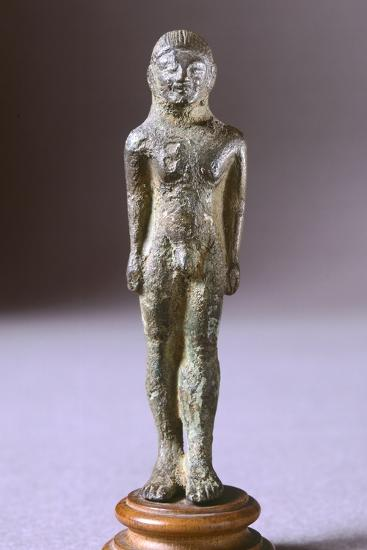 Kouros in Bronze, from Fonte Veneziana, Arezzo--Photographic Print