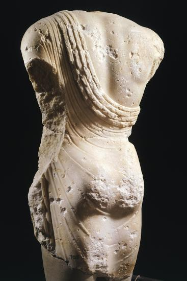 Kouros, Statue from Syracuse, Italy, Back, Magna Graecia, 6th-5th Century BC--Giclee Print