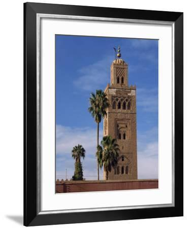 Koutoubia Minaret and Mosque, Marrakesh, Morocco, North Africa, Africa-Poole David-Framed Photographic Print