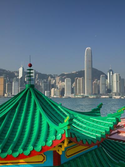 Kowloon, Victoria Harbour, International Financial Centre, Central, Hong Kong, China-Walter Bibikow-Photographic Print