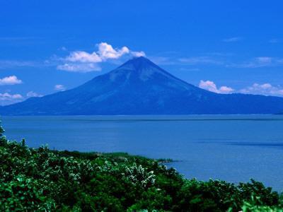 Lake Managua and Momotombo Volcano