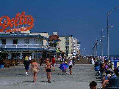 People on Rehoboth Beach Boardwalk