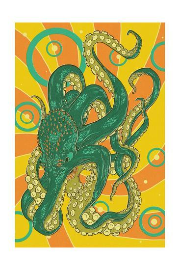 Kraken-Lantern Press-Art Print