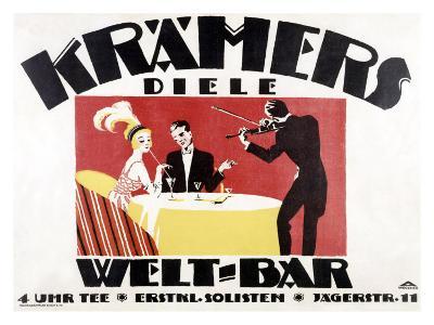 Kramer's Welt-Bar-Gerda Wegener-Giclee Print