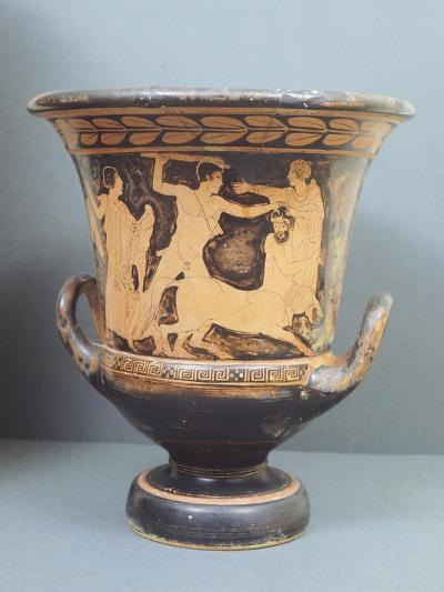 Krater Showing Centauromachy, 5th Century BC, Ancient Greece, Red-Figure Pottery--Giclee Print