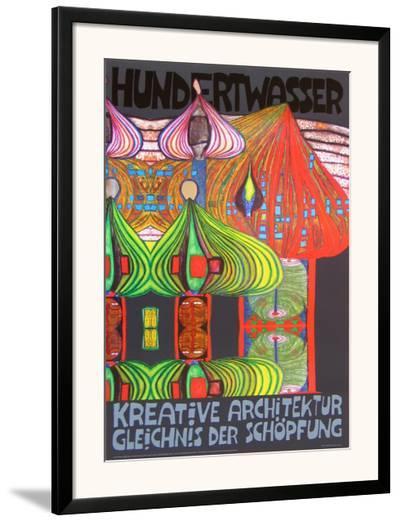 Kreative Architecture-Friedensreich Hundertwasser-Framed Art Print