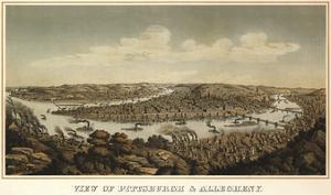 View of Pittsburgh & Allegheny, 1874 by Krebs