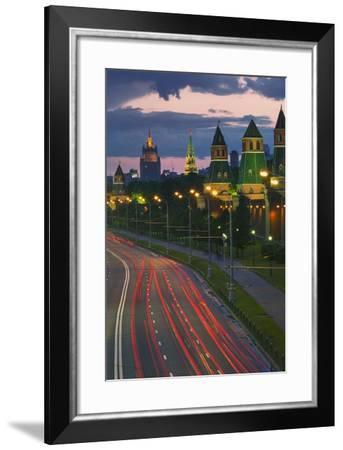Kremlevskaya Nab at Dusk-Jon Hicks-Framed Photographic Print