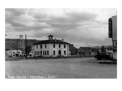 Kremmling, Colorado - Town Square-Lantern Press-Art Print