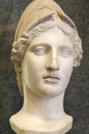 Head of Athena, Goddess of Wisdom and Just War, and Patroness of Crafts, Early 1st Century