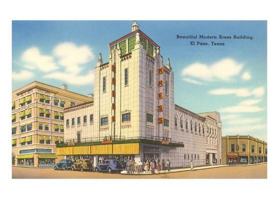 Kress Building El Paso Texas Art Print By Art Com